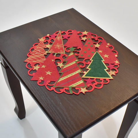 Christmas Trees Doily | 12 inches