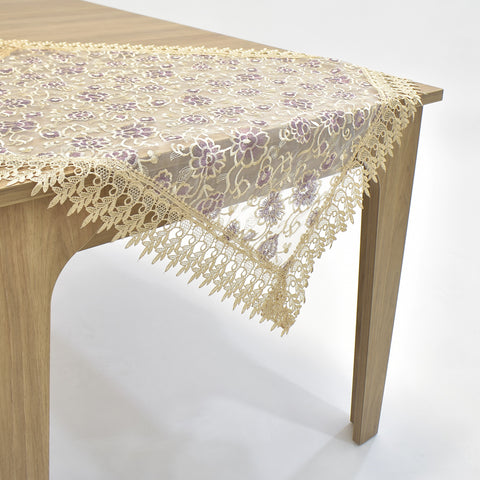 Purple Holly Square Table Topper | 36 inches