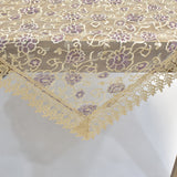 Purple Holly Square Table Topper | 45 inches