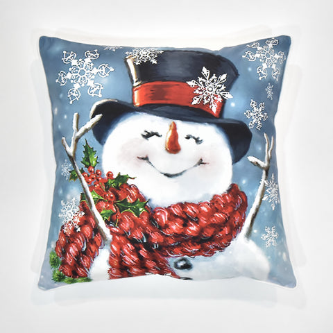 Snowman Christmas Cushion Cover | 41 x 41 cm