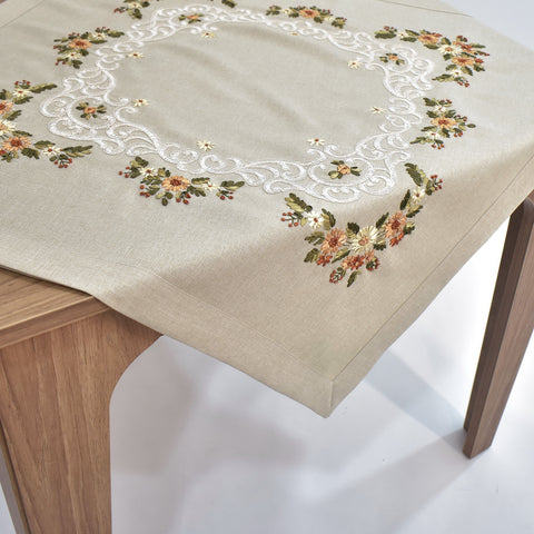 Spring Flower Square Table Topper | 36 inches