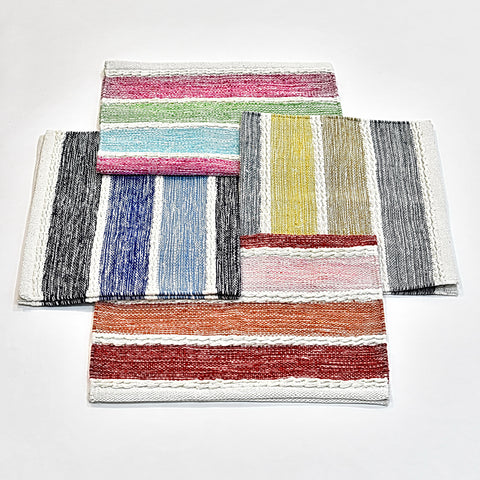 Colorful Striped Indian Rug | 50 x 80 cm