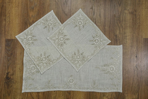 Arabesque 3 Piece Tablecloths Set