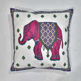 Elephant Embroidered Cushion Cover | 45 x 45 cm
