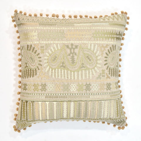 Indian Embroidery Cushion Cover | 40 x 40 cm