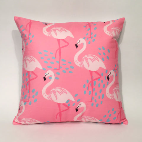 Flamingo Pink Printed Cushion Cover | 44 x 44 cm