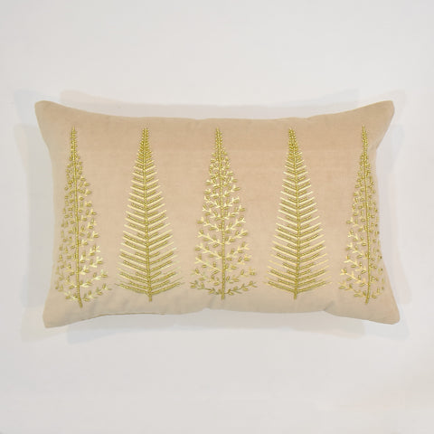 Gold Indian Velvet Cushion Cover | 35 x 55 cm
