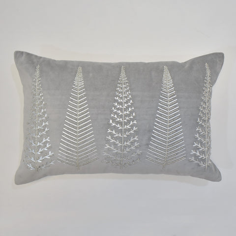 Grey Indian Velvet Cushion Cover | 35 x 55 cm