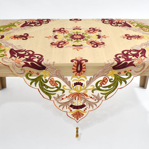 Ariana Net Square Table Topper | 54 inches