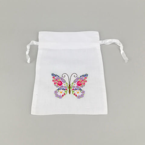 Butterfly Embroidered Pouch