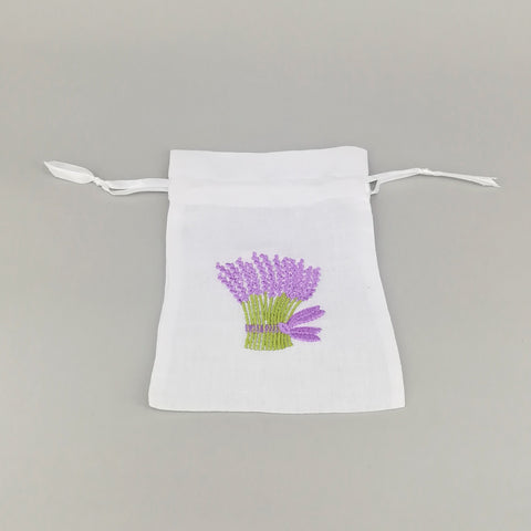 Lavender Bouquet Embroidered Pouch