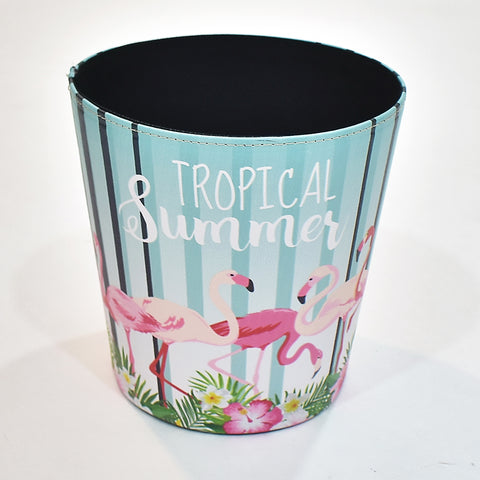 Tropical Summer Flamingo  Storage Bin