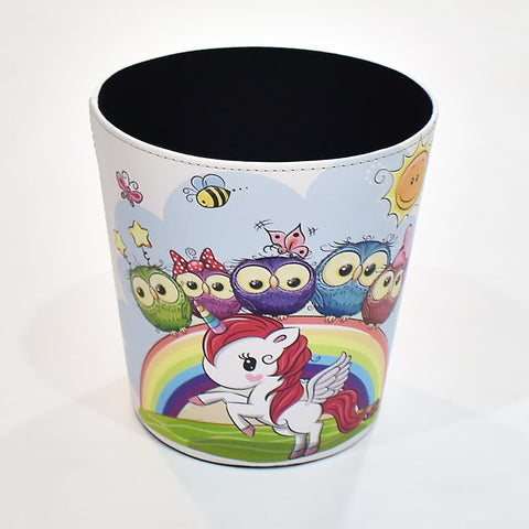 Colorful Owl Storage Bin