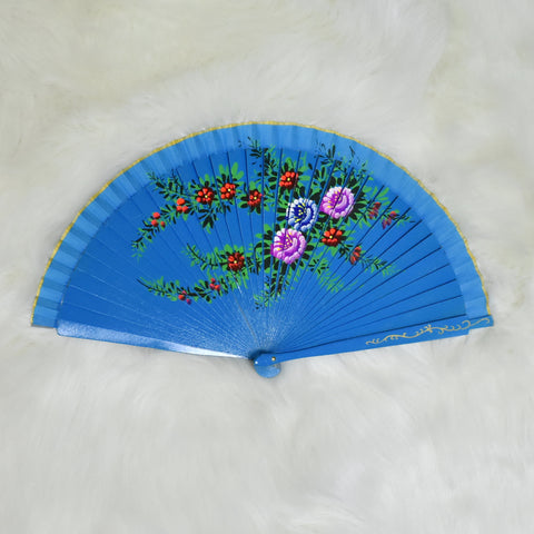 Hand-painted Handheld Folding Wooden Fans