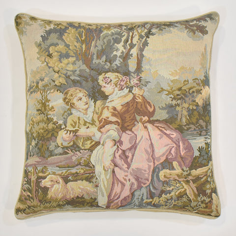 Romeo & Juliet Pink Tapestry Cushion Cover | 45 x 45 cm