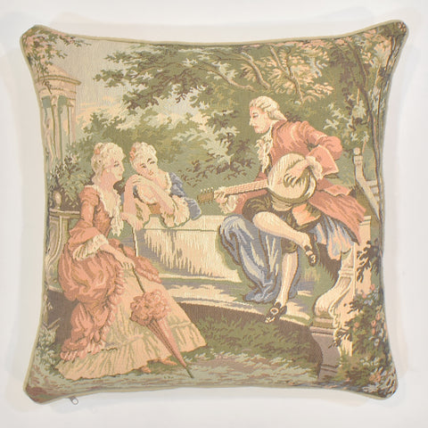 Romeo & Juliet Orange Tapestry Cushion Cover | 45 x 45 cm