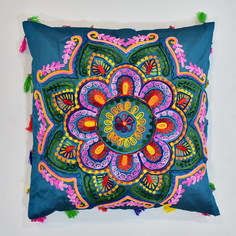 Classic Indian Embroidery Cushion Cover | 45 x 45 cm