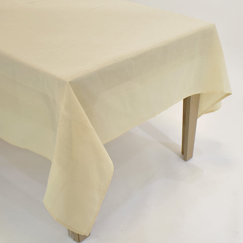 Classic Plain Dining Table Topper | 90 inches