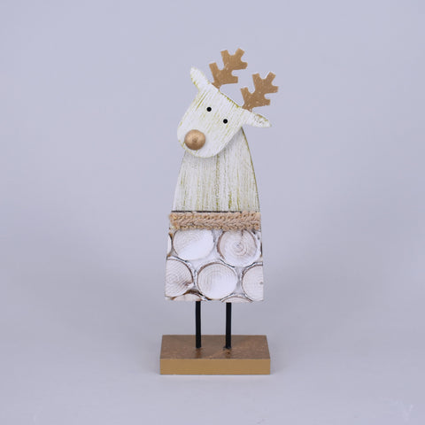 Decorative Wooden Christmas Reindeer | Large
