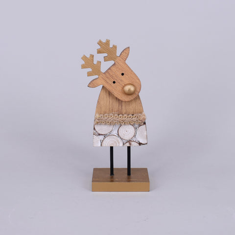 Decorative Wooden Christmas Reindeer | Small