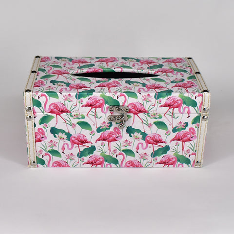Flamingo Tissue Box Cover