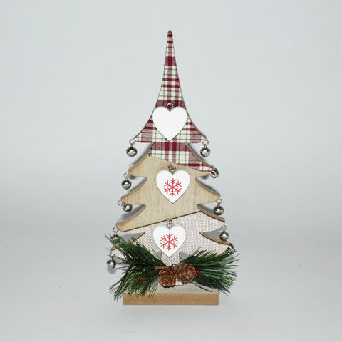 Decorative Wooden Christmas Tree With Hearts