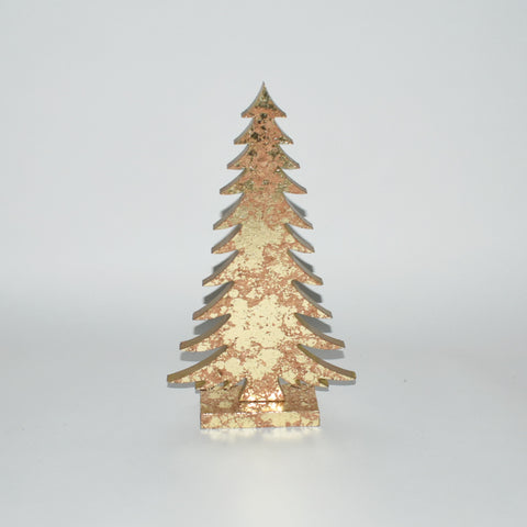 Decorative Gold Wooden Christmas Tree