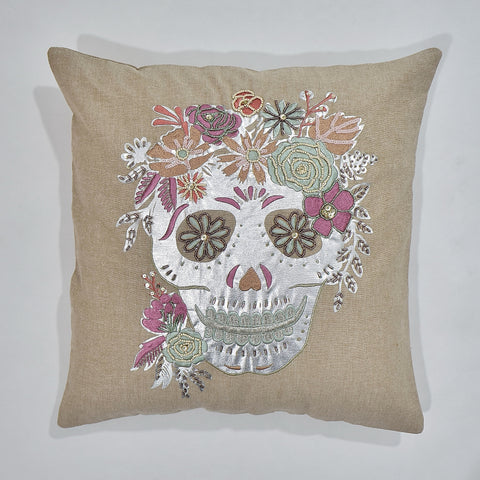 Skull Metallic Cushion Cover | 45 x 45 cm
