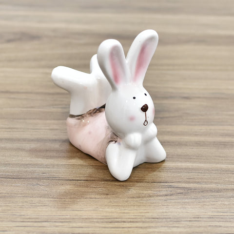 Decorative Ceramic Easter Bunny Lying Down