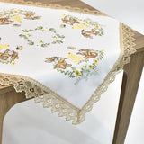 Easter Lace Square Table Topper | 36 inches