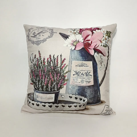 Lavender Printed Cushion Cover | 44 x 44 cm