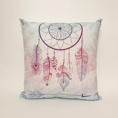 Blue Dreamcatcher Printed Cushion Cover | 44 x 44 cm