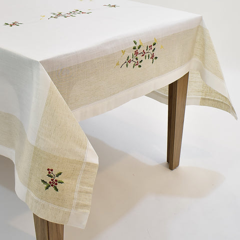 Classic Christmas Dining Table Topper | 72x108 inches