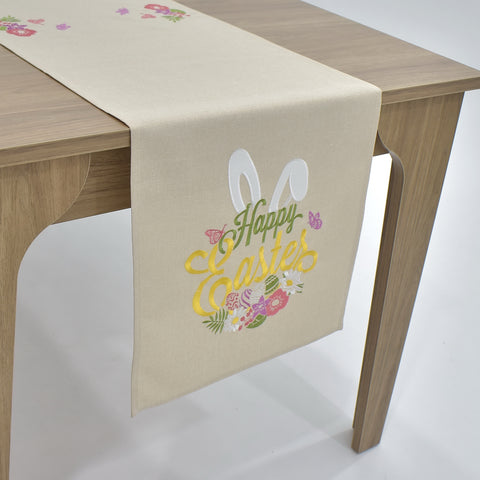 Happy Easter Table Runner | 16x72 inches