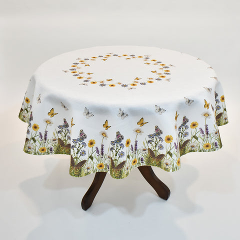 Spring Butterfly Table Topper | 170cm Round