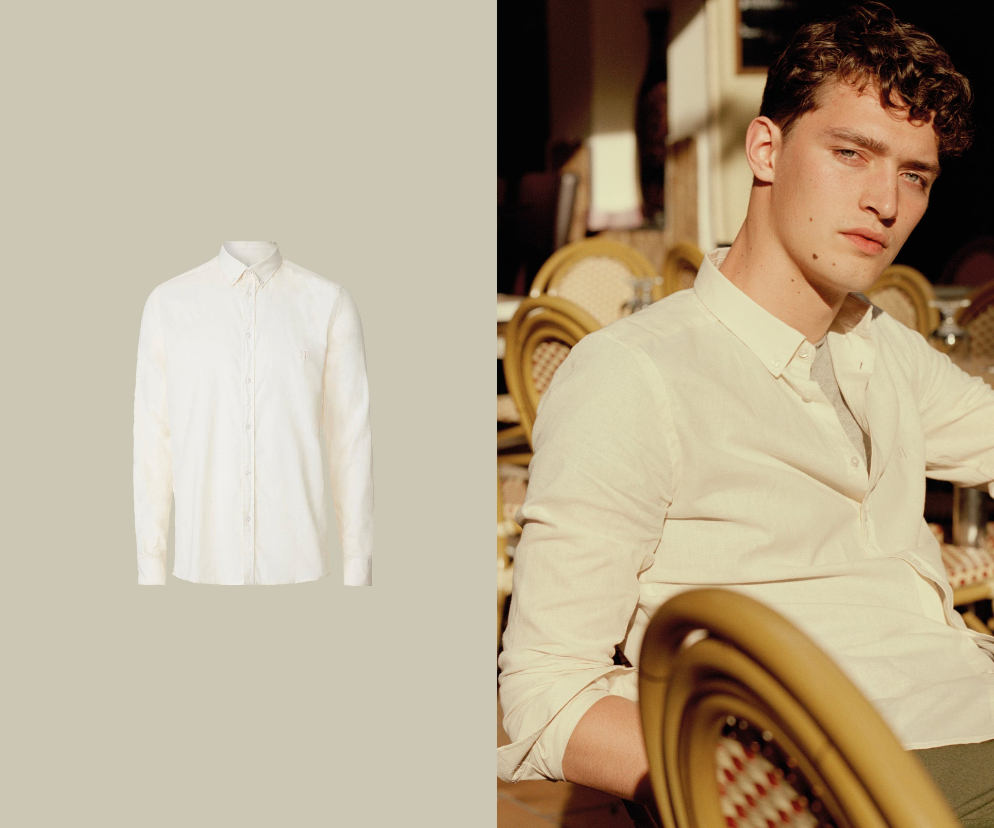 Simon linen shirt spring essential