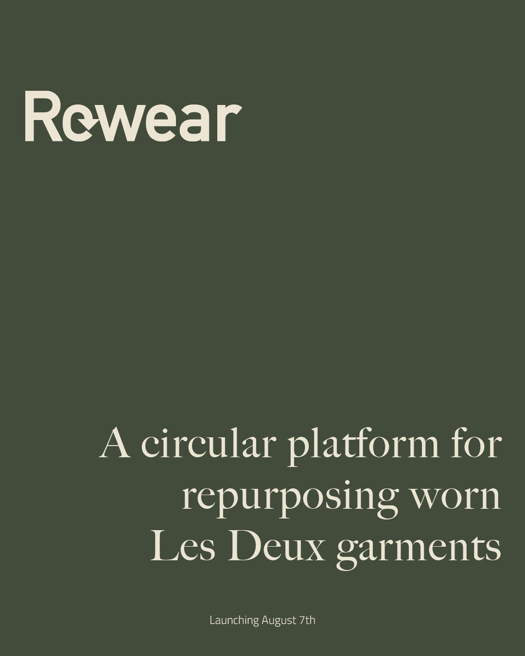 Introducing rewear a circular platform for repurposing worn les deux garments