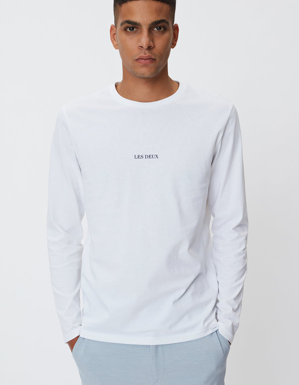 Les Deux MEN Lens T-Shirt LS T-Shirt 201100-White/Black