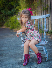 Beberlis Ruby Brogue-Girls Shoes-BEBERLIS-Hopscotch Shoes Australia