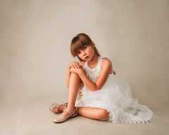 Beberlis Girls BeigeNude Bow Mary Jane Dress shoes-girls Shoes-BEBERLIS-Hopscotch Shoes Australia