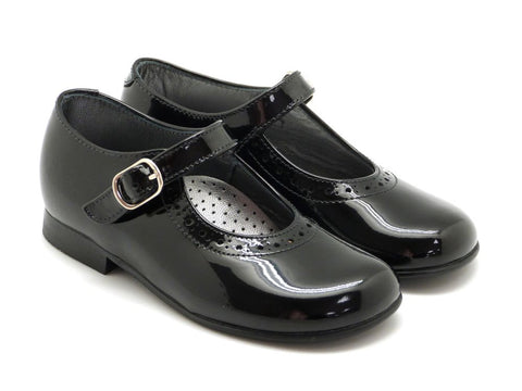 Beberlis GirlsToddler Classic black Mary Jane Dress Shoes-Girls Shoes-BEBERLIS-Hopscotch Shoes Australia