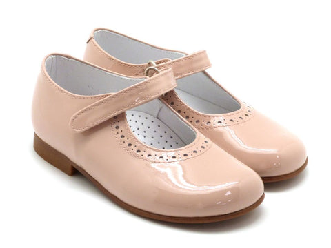 Beberlis GirlsToddler Classic nude  pink Mary Jane Dress Shoes-Girls Shoes-BEBERLIS-Hopscotch Shoes Australia