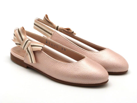 Beberlis Girls baby Pink Bow Mary Jane Dress shoes-girls Shoes-BEBERLIS-Hopscotch Shoes Australia