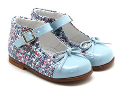 Beberlis Girls baby ligth blue  Mary Jane with buckle and a bow Dress shoes-baby Shoes-BEBERLIS-Hopscotch Shoes Australia