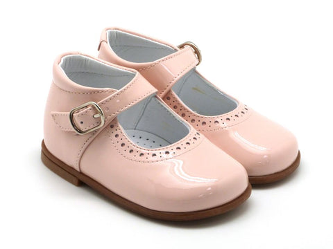 Beberlis Girls baby pink patent  Mary Jane with buckle  Dress shoes-baby Shoes-BEBERLIS-Hopscotch Shoes Australia