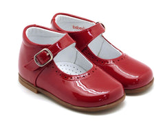 Beberlis Girls baby red patent  Mary Jane with buckle  Dress shoes-baby Shoes-BEBERLIS-Hopscotch Shoes Australia