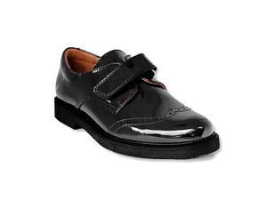 Beberlis Black Brogue-BoysShoes-BEBERLIS-Hopscotch ShoesAustralia