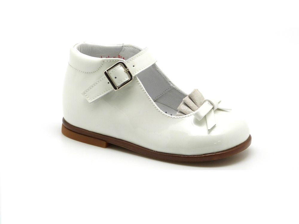 Beberlis white Bootie style Mary Jane-Baby Shoes-BEBERLIS-Hopscotch Shoes Australia