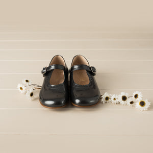 Beberlis Classic Charcoal Mary Jane-Girls Shoes-BEBERLIS-Hopscotch Shoes Australia