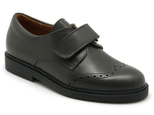 Beberlis Boys Dark Grey Wingtip Brogue Smart Shoes
